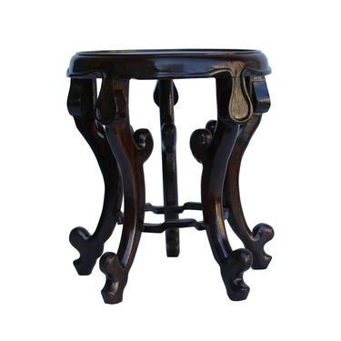 """Chinese Brown Wood Round Tall Table Top Stand Display Easel 4.5"""" cs5320BE by GoldenLotusAntiques"""