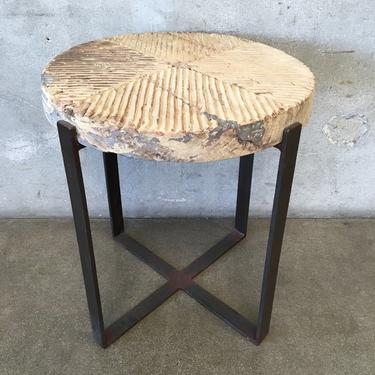 Wood Grinder Side Table