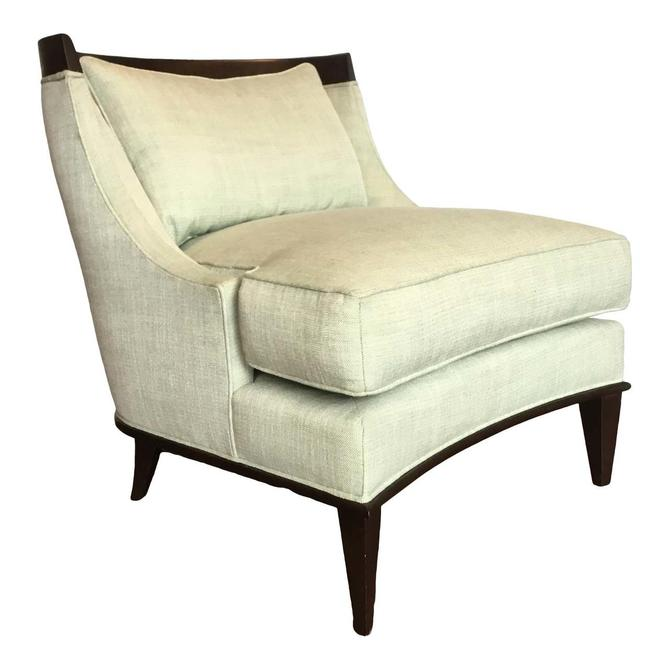 Ambella Home Light Green Transitional Klismos Slipper Chair