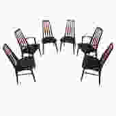 Set of 6 Koefoed Hornslet Danish Walnut Dining Chairs