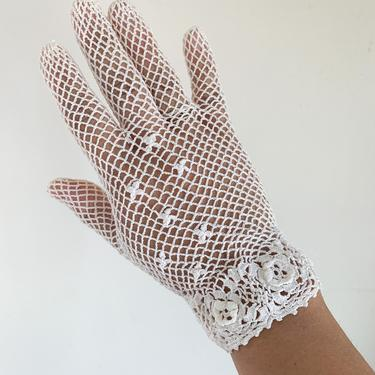 vintage 1930s Crochet Cotton Gloves by MsTips