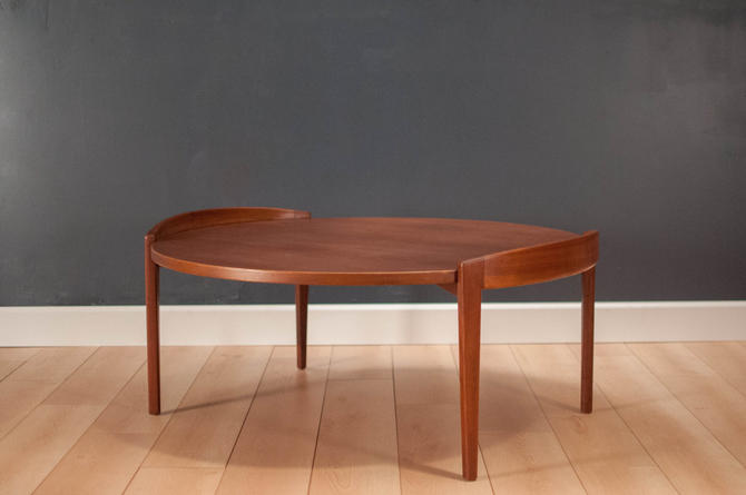 Jens Risom Round Walnut Coffee Table By Midcenturymaddist From Mid Century Maddist Of San Jose Ca Attic