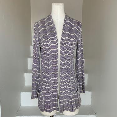 Aubergine and Cream 1930s Knit Longline Sweater Rayon Silk Blend Vintage Jacket by AmalgamatedShop
