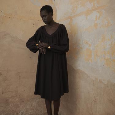 YSL Black Trapeze Dress