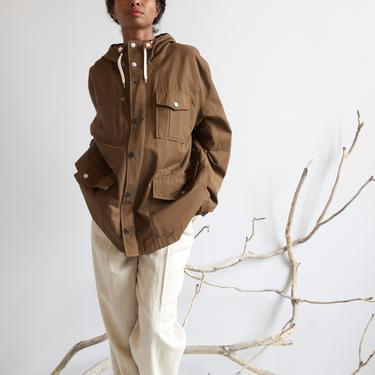 NOS brown hooded utility parka by EELT