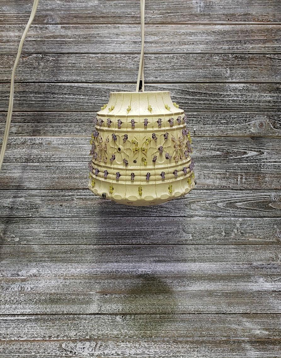 Vintage Lawnware Hanging Lamp 1960s Flower Pot Lamp Mid