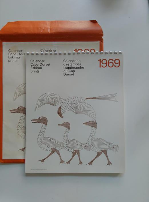 Vintage Inuit Cape Dorset Eskimo Prints 1969 Calendar by ModandOzzie