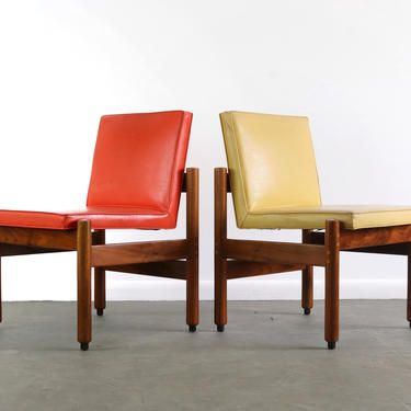 Set of Two Thonet Side Chairs in Playful Contrasting Colors, USA by ABTModern