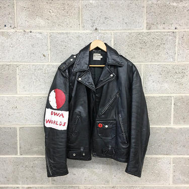 Vintage Motorcycle Jacket Retro 1970s Genuine Leather + Quilted Lining + Zippered Pockets + Studs and Grommets + Size 42 + Punk + Apparel by RetrospectVintage215