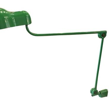 "Joe Columbo Green ""Mouse"" Clamp Lamp, Green, Italy, 1960's"
