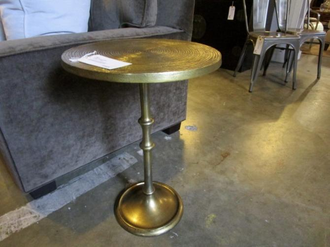 BRASS STYLE ACCENT TABLE