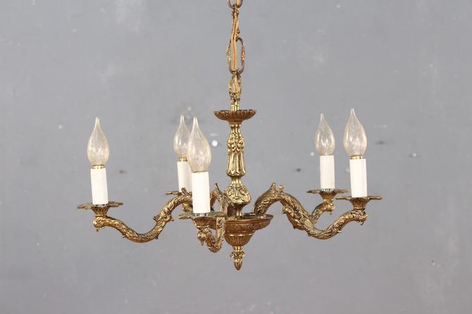 Regal Brass Chandelier