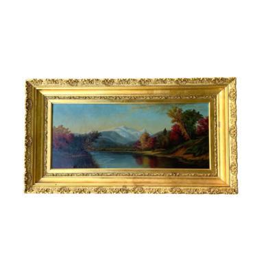 19th Century Autumn River Landscape by FunkyRelic
