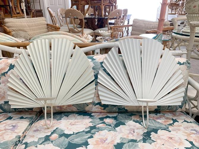 Pair of Island Palm Candle Wall Sconce