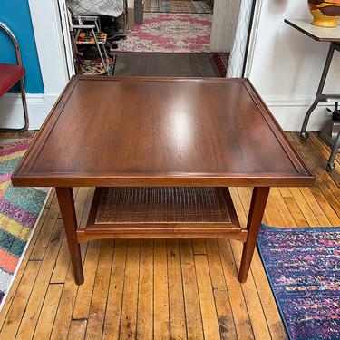 Drexel Declaration Square Coffee Table w\/Caned Shelf