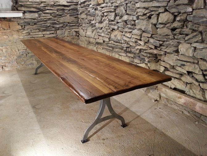 Viking Hall Conference Table From Reclaimed Heart Pine And