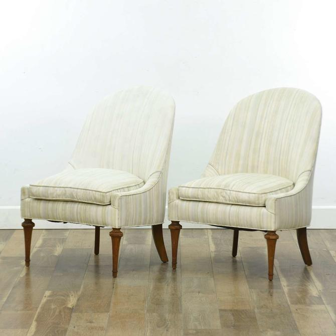 Pair Vintage Hollywood Regency Accent Chairs