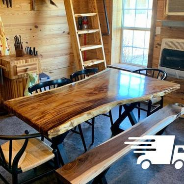 Live Edge Walnut Dining Table by UmbuzoRustic