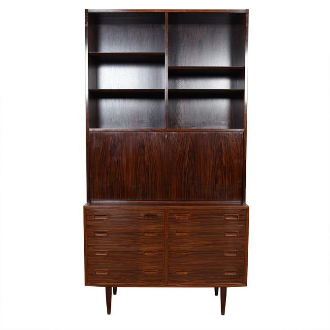 Danish Rosewood 2-Piece Secretary / 8 Drawer Storage Cabinet