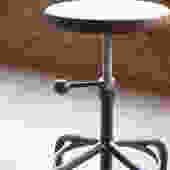 Walnut Industrial Stool Adjustable Drill Press Stool bar stools by CamposIronWorks
