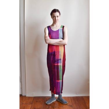Issey Miyake Pleats Please | Mesh and Pleated Photo Print Dress by LadyofLizard