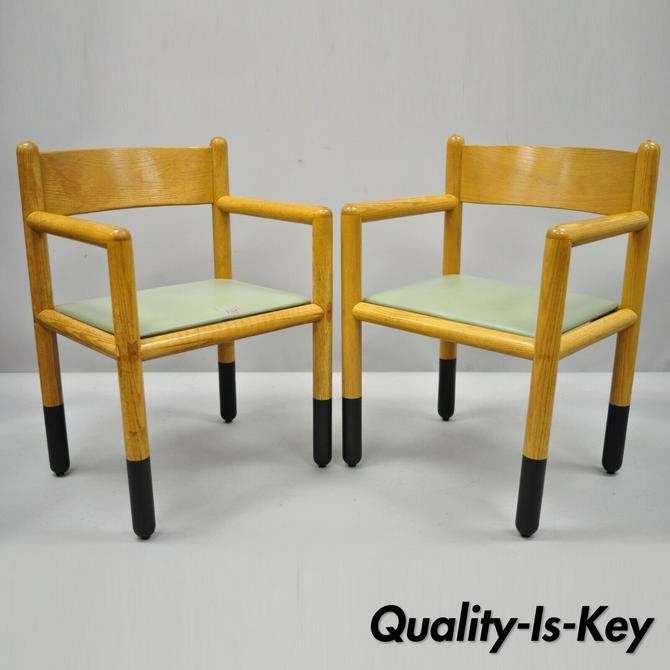 Pair of Vintage Sunar Hauserman Vignelli Acorn Mid Century Modern Arm Chairs