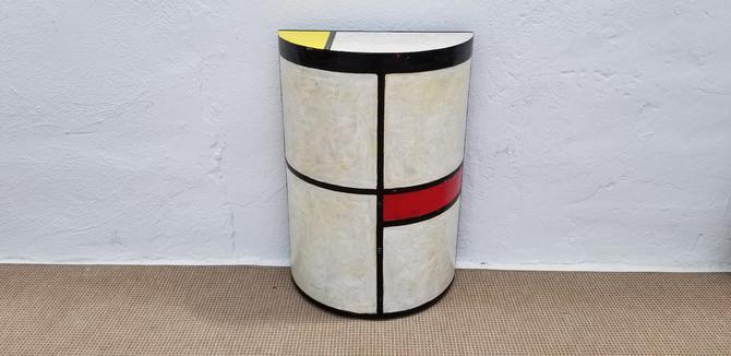 Piet Mondrian Style   By H. Lopez Pedestal . by MIAMIVINTAGEDECOR