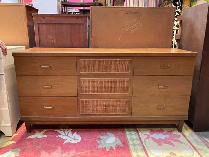 "Mid century 9 drawer dresser. 62"" wide 19"" deep 30.5"" tall"