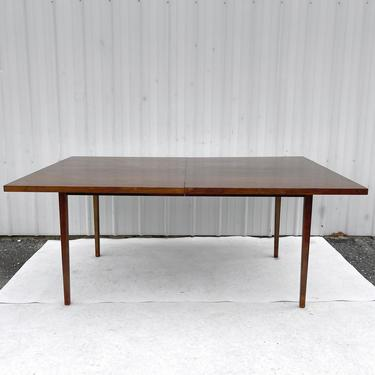 Large Mid-Century Dining Table With Two Leaves by secondhandstory