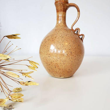 Fine Studio Pottery Ribbon Handle Art Vase by pennyportland