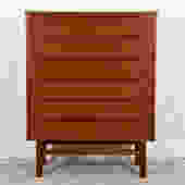 Teak Danish Modern Tall 6 Drawer Dresser / Chest