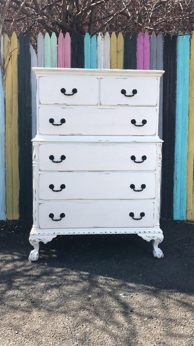 Vintage dresser,Antique dresser wih matching nightstand free delivery in nyc by NYCVintageDressers
