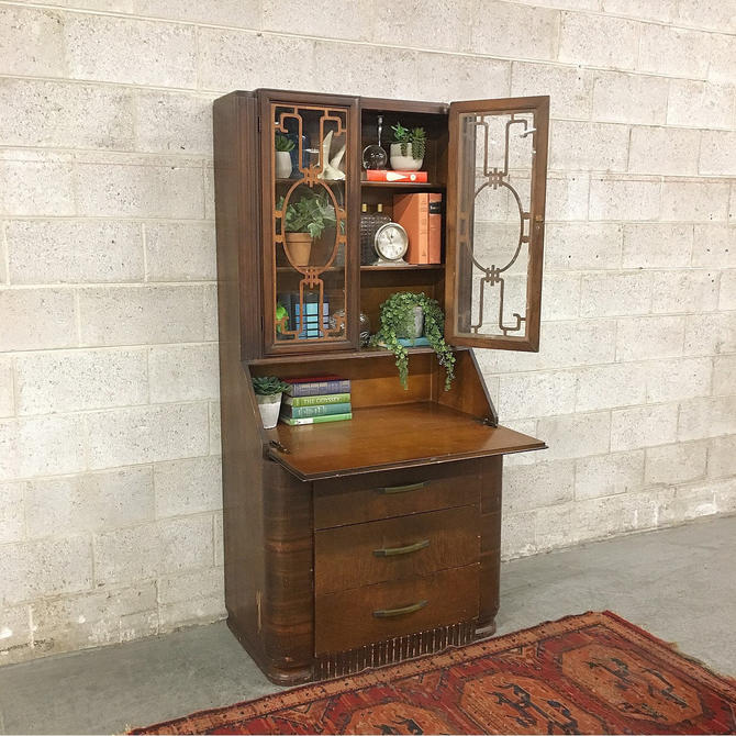 LOCAL PICKUP ONLY ————— Antique Writing Desk by RetrospectVintage215