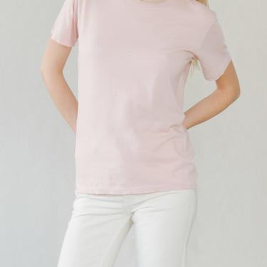 Destroyed Sunday Tee in Rose