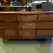 Mid Century Teak Fronted Dresser H31.75 x W58 x D18