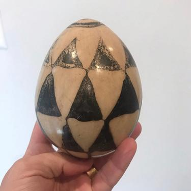 Clay Black and White Egg by CaminoCollective