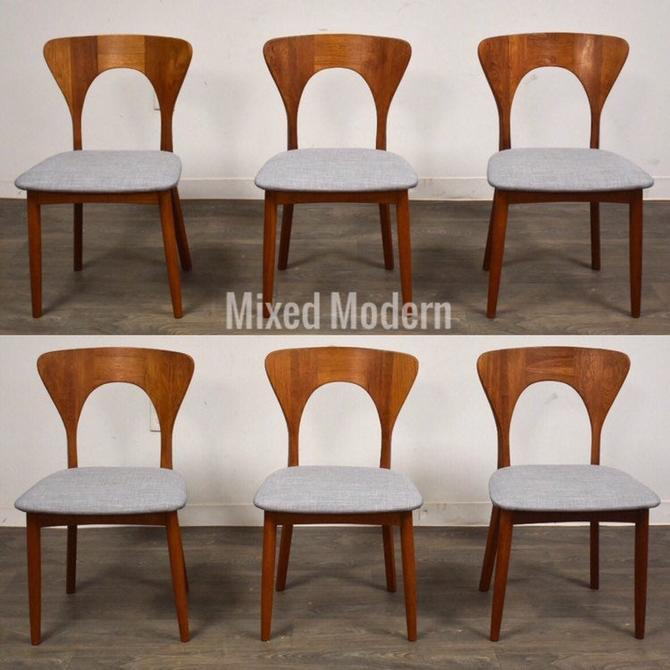 "Koefoeds Hornslet Danish Teak ""Peter"" Dining Chairs - Set of 6 by mixedmodern1"