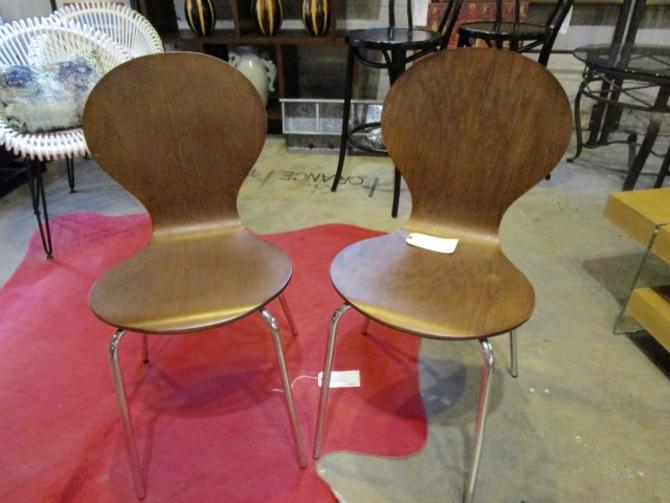 PAIR OF MODERN SIDE CHAIRS