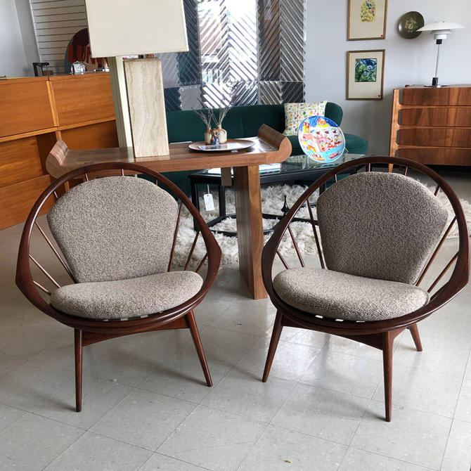 HA-18106 Pair of Ib Kofod-Larsen Hoop Chairs for Selling