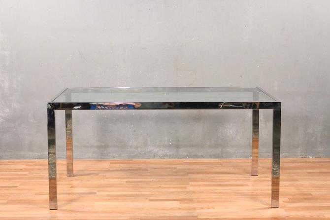 Chrome & Glass Dining Table – ONLINE ONLY