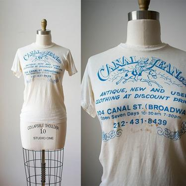 Vintage 1970s Canal Jeans Company Tshirt / Vintage NYC Vintage Shop Tee / NYC History / Vintage NYC The Village / Canal Jean Co T by milkandice