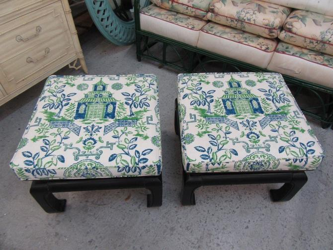 Upholstered Ming Footed Benches