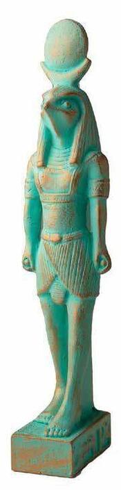 Verdigris Ra Statue