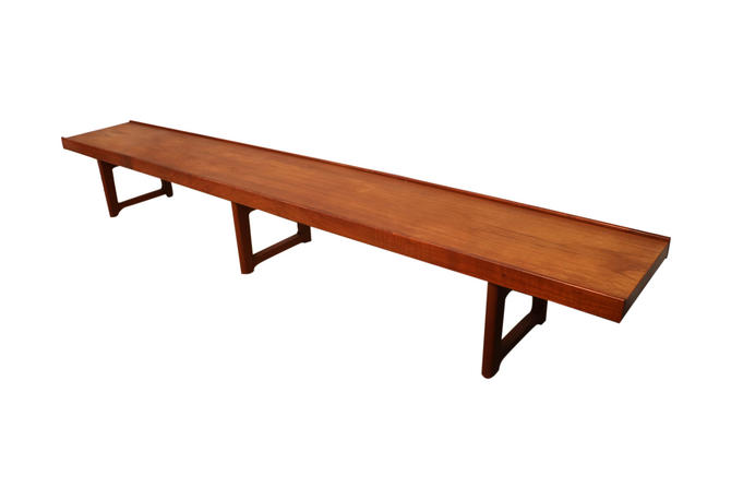 Mid Century Krobo Bench by Torbjørn Afdal for Bruksbo, Norway, 1960s by Marykaysfurniture