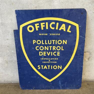 Vintage Pollution Control Device Station Sign