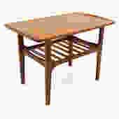 Finn Juhl Style Teak Mid Century Side End Table