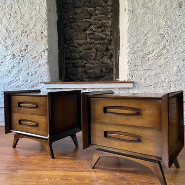 Mid century nightstand mid century modern nightstands a pair mid century side table by VintaDelphia
