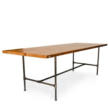 Bar Height Dining Table or Counter Height Dining Table made with reclaimed wood and pipe legs. Choose size, height, thicknes and finish. by UrbanWoodGoods