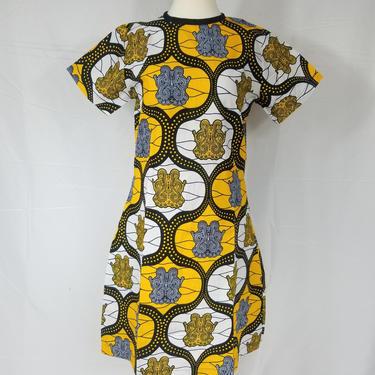 BELLA Ankara shift dress (Yellow abd black) by GLAMMfashions