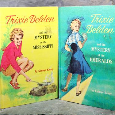 Set of 2 Trixie Belden Books by Kathryn Kenny, 1965 Edition, Volumes 14 & 15 - Vintage, Classic Children's Novels  | FREE SHIPPING by Bixley